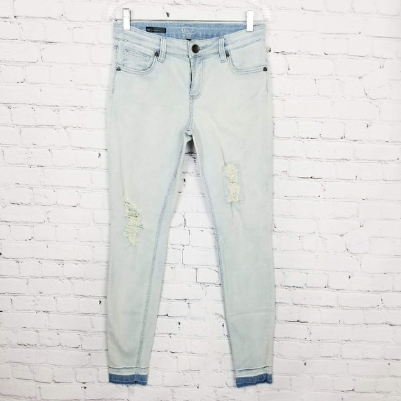 Kut from the Kloth Denim - Kut From The Kloth|Light Wash Distressed Jeans